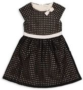 Kate Spade Little Girl's Roundneck Perforated Dress