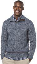 Chaps Big & Tall Classic-Fit Mockneck Twist Sweater