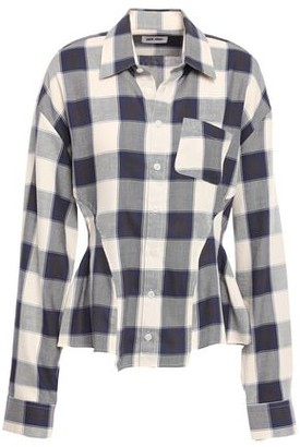 Each X Other Pleated Gingham Cotton-twill Shirt