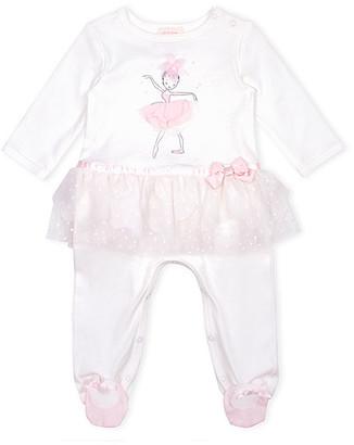 Biscotti Girls' Footies IVORY - Ivory Ballerina Tutu Footie - Newborn & Infant