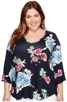 Karen Kane Plus Plus Size Bell Sleeve Top