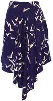 Leifsdottir Purple Print Asymmetrical Skirt