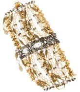 Erickson Beamon Crystal & Faux Pearl Cuff Bracelet
