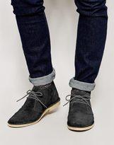 Asos Desert Boots In Suede - Grey