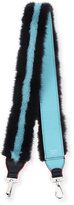 Fendi Strap You Mink Stripe Shoulder Strap for Handbag, Black/Blue