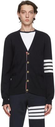 Thom Browne Navy Wool 4-Bar Cardigan