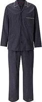 John Lewis Indian Block Print Cotton Pyjamas, Navy