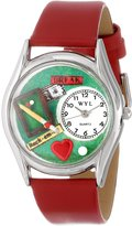 Whimsical Watches Women's S0430007 Billiards Red Leather Watch