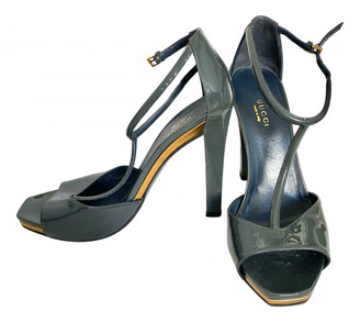 Gucci Anthracite Patent leather Sandals