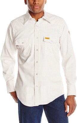 Riggs Workwear Men's Flame Resistant Western Work Lightweight Woven Shirt