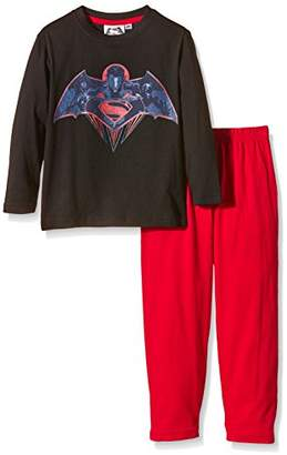 Victoria's Secret DC Comics Boy's Batman Superman Long Sleeve Pyjama Set
