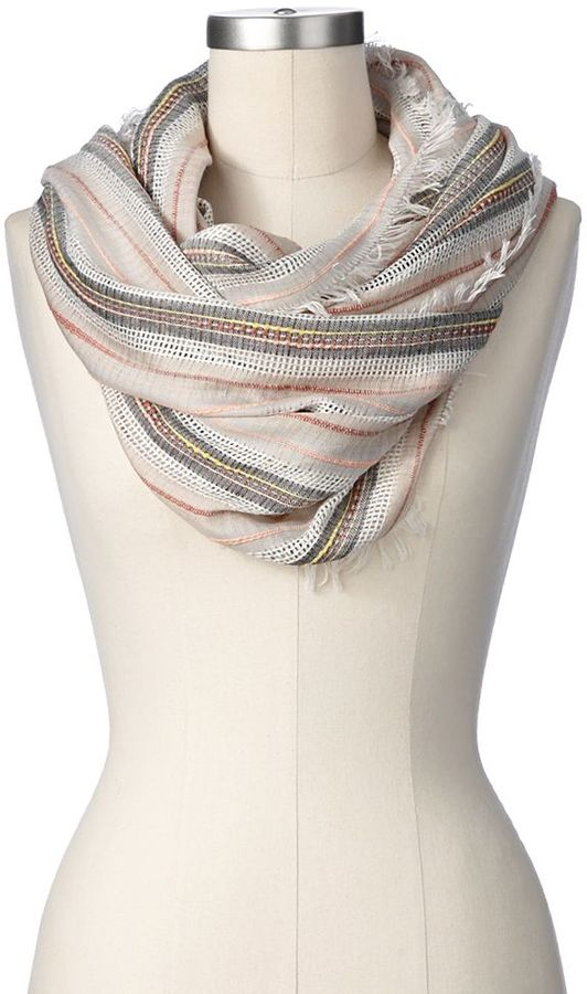 Apt. 9 striped woven infinity scarf