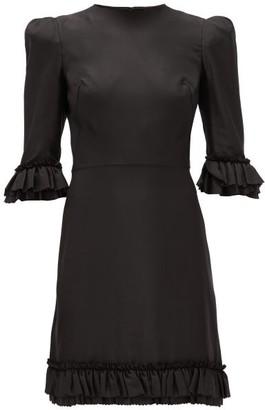 The Vampire's Wife Festival Ruffle-trimmed Silk Mini Dress - Black