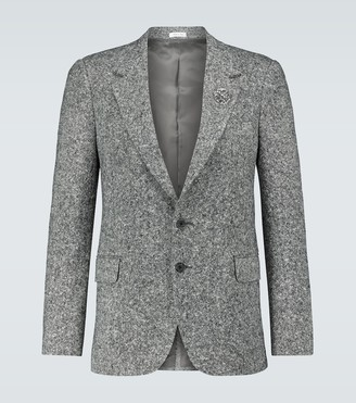 Alexander McQueen Salt and pepper tweed blazer