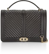 Rebecca Minkoff Chevron Quilted Jumbo Love Crossbody Bag With Top Handle