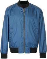 Cerruti micro-houndstooth bomber jacket