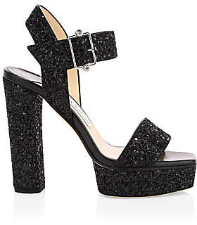Jimmy Choo Women's Maie Glitter Platform Sandals