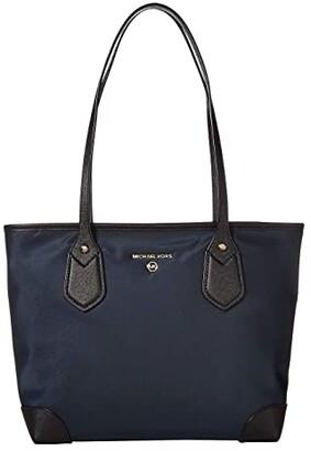 MICHAEL Michael Kors Eva Small Top Zip Tote (Black) Handbags