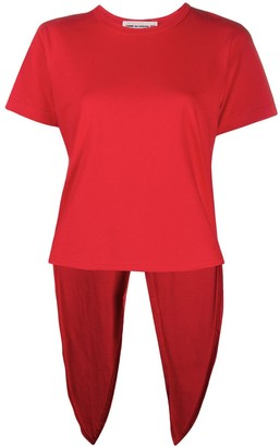 COMME DES GARÇONS GIRL fishtail hem cotton T-shirt