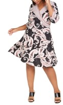 Robbie Bee Plus Size Paisley-Print Wrap Dress