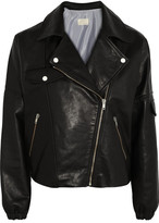 Band Of Outsiders Dolman-sleeve leather biker jacket