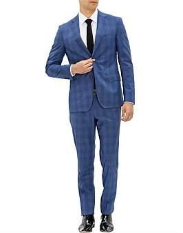 Pal Zileri 2B Sb Sv Fl Pkt Notch Lapel Wl Gentleman Check Suit