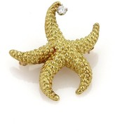 Tiffany & Co. 18K Yellow Gold Diamond Starfish Brooch