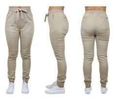 Galaxy By Harvic Women's Basic Stretch Twill Joggers
