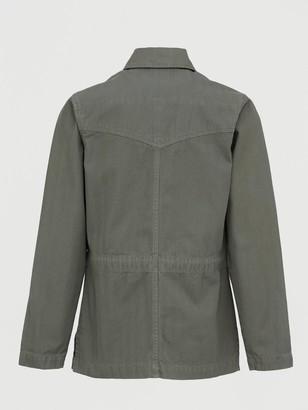 Very Herringbone Utility Jacket - Khaki