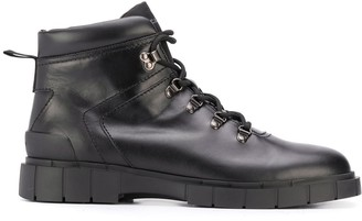 Car Shoe Lace-Up Leather Boots