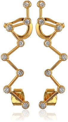 Noir Zig-Zag Gold Ear Cuffs