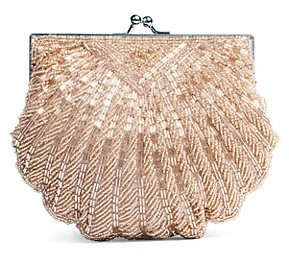 La Regale Iconic Beaded Shell Convertible Clutch