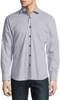 Bertigo Men's Long Sleeve Cotton Casual Button-Down Shirt