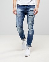 Loyalty & Faith Loyalty And Faith Kaleb Stretch Skinny Jeans With Distressing