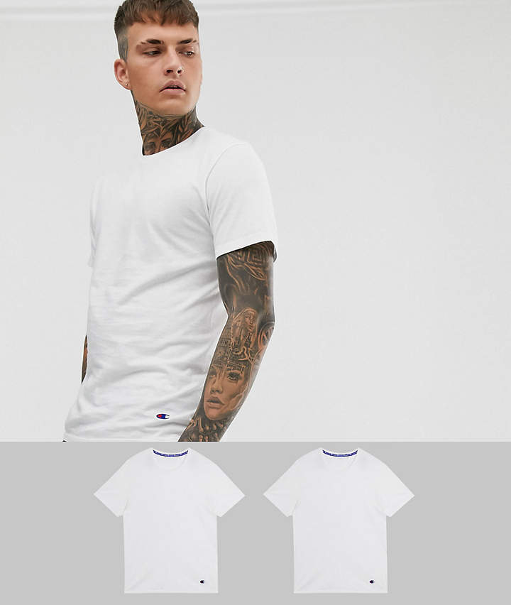 Champion basic crew neck t-shirts 2-pack in white