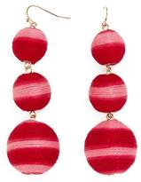 BaubleBar Concordia Crispin Ball Triple Drop Earrings