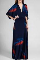Short Sleeve Caftan Dress in Feather