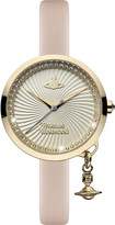 Vivienne Westwood VV139WHPK Time Machine stainless steel and leather watch