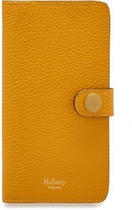 Mulberry iPhone X/XS Flip Case Deep Amber Small Classic Grain