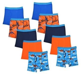 Wonder Nation Boys Underwear, 10 Pack Dino Boxer Brief Sizes S - XL