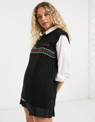 Kickers knitted sweater vest with vintage stripe