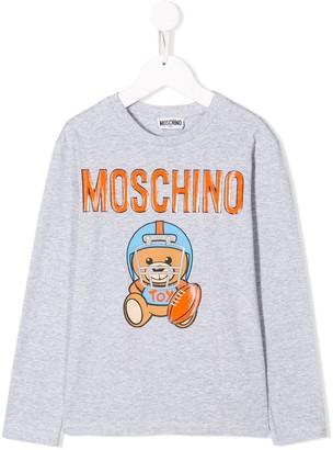 MOSCHINO BAMBINO Teddy Footballer Long Sleeved Top