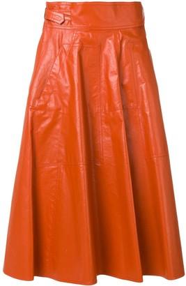 Bottega Veneta pleated A-line skirt
