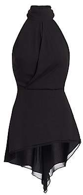 Halston Women's Sleeveless Draped Mockneck Top