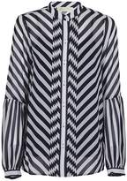 Michael Kors Striped Pattern Blouse