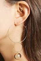 Forever 21 Wire Hoop Bauble Earrings