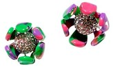 Thumbnail for your product : Lele Sadoughi Crystal Buttercup Button Earrings