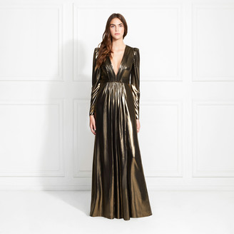 Rachel Zoe Rosalee Gold Foil Metallic Gown