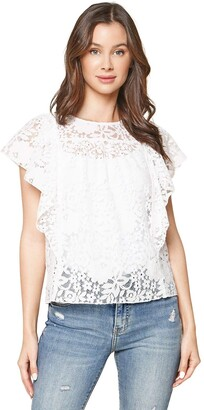 Sugar Lips Sugarlips Women's Melting for You Short Sleeve Lace Top