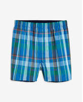 Express plaid covered waistband woven boxers